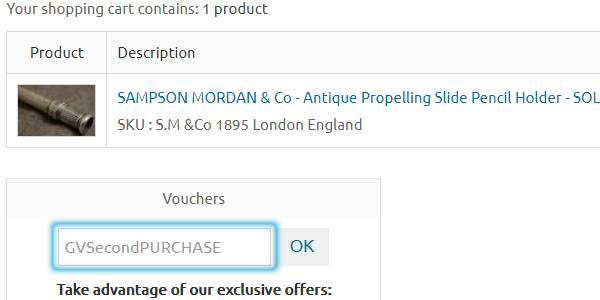 Enter Voucher Code on Checkout Page